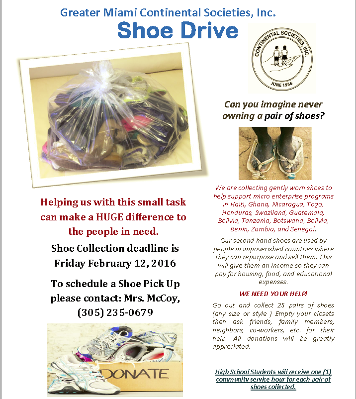 Greater Miami CSI Shoe Drive