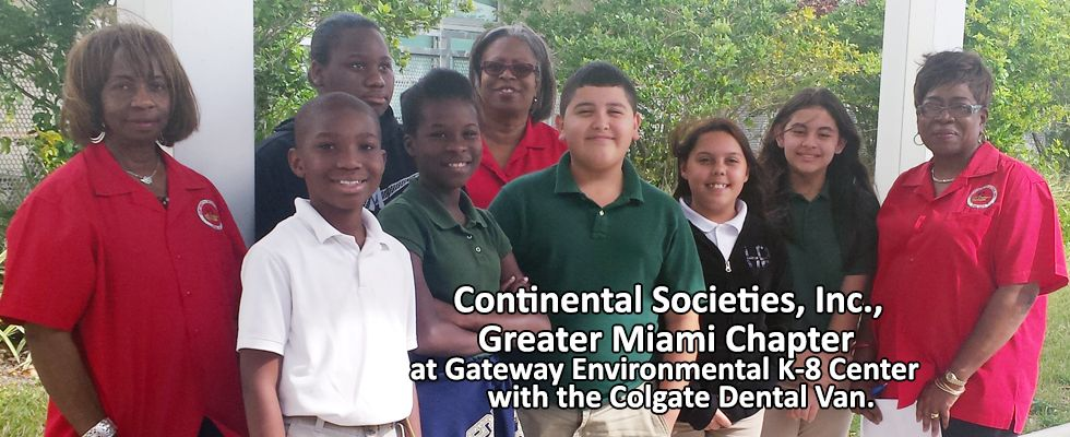 Continental Societies Greater Miami Chapter @ Gateway Elementary With Colgate Van